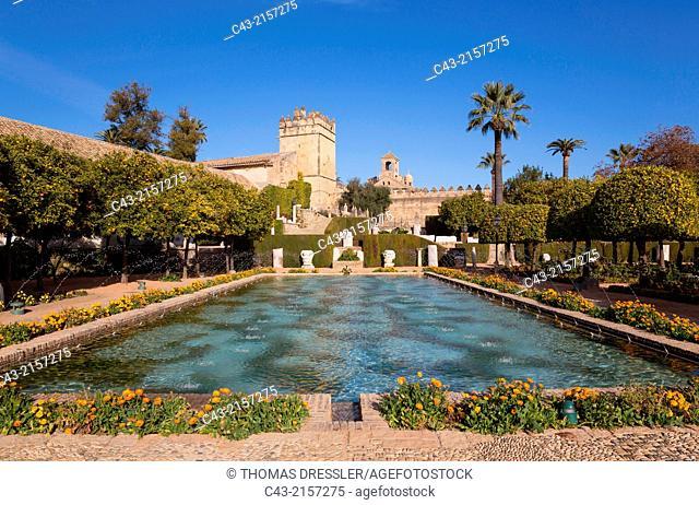 The gardens of the Alcázar de Los Reyes Cristianos. Córdoba, Córdoba province, Andalusia, Spain