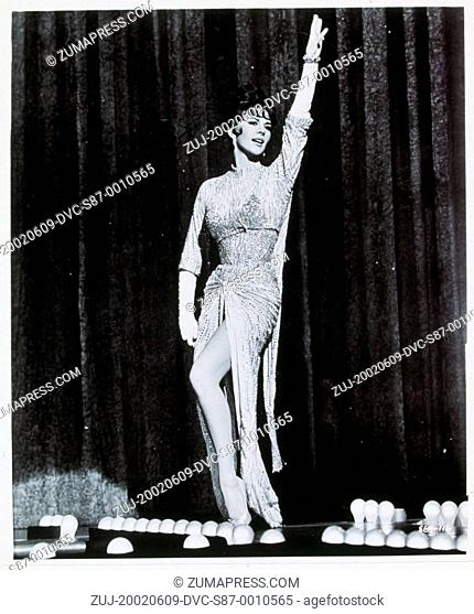 1962, Film Title: GYPSY, Director: MERVYN LeROY, Studio: WARNER, Pictured: CHARACTER, DANCING, GYPSY ROSE LEE, MERVYN LeROY, SINGING, STRIP