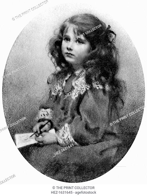 The Queen Mother as a child, c 1905 (1910). Lady Elizabeth Bowes-Lyon (1900-2002) became the mother of Queen Elizabeth II
