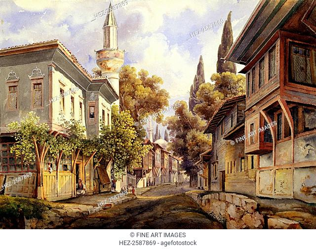 'A Street in Constantinople', 1835. Found in the collection of the State A Pushkin Museum of Fine Arts, Moscow