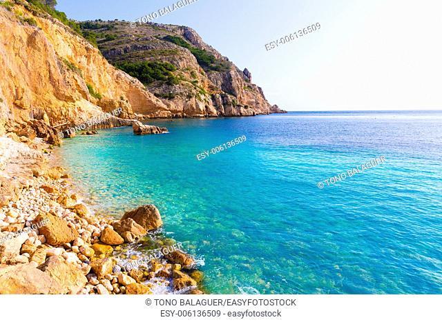Javea Xabia Playa Tango beach in Alicante Mediterranean Spain