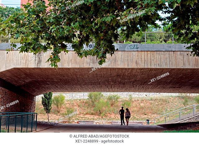 Walkway, gardens Can Mercader, Cornella de Llobregat, Catalonia, Spain