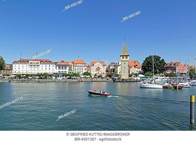Harbor, Mangenturm, Lindau, Lake Constance, Bavaria, Germany