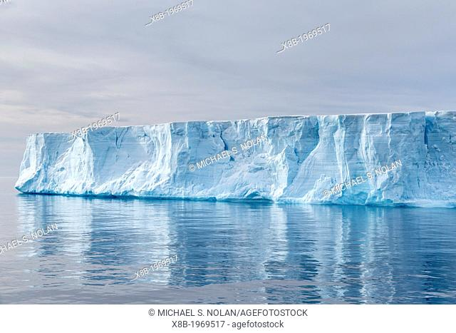 Tabular iceberg in the Weddell Sea, Antarctica, Southern Ocean