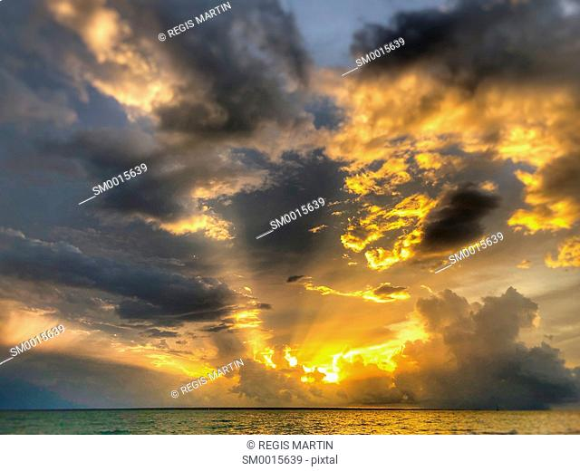 Sunset over Darwin Harbour in the Northern Territory of Australia