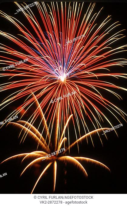July 4th fire works celebration, United States
