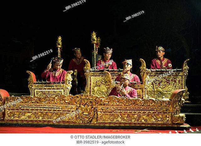 A gamelan orchestra playing, Ubud, Bali, Indonesia