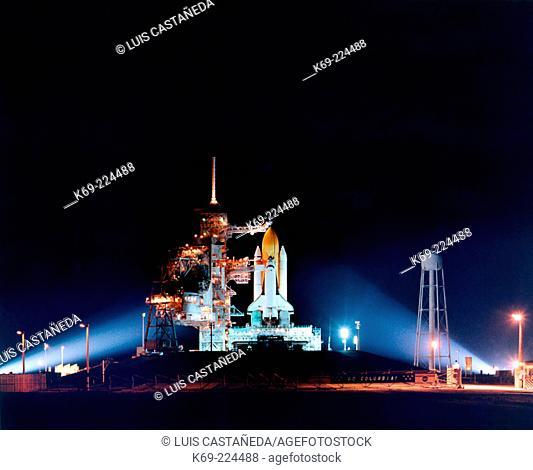 Shuttle Columbia ready for launch. NASA-K.S.C. Florida. USA