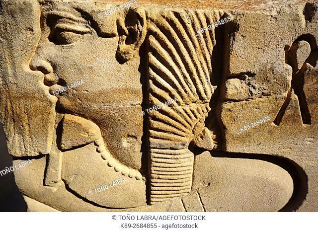 Relief. Luxor Temple. Luxor. Upper Egypt