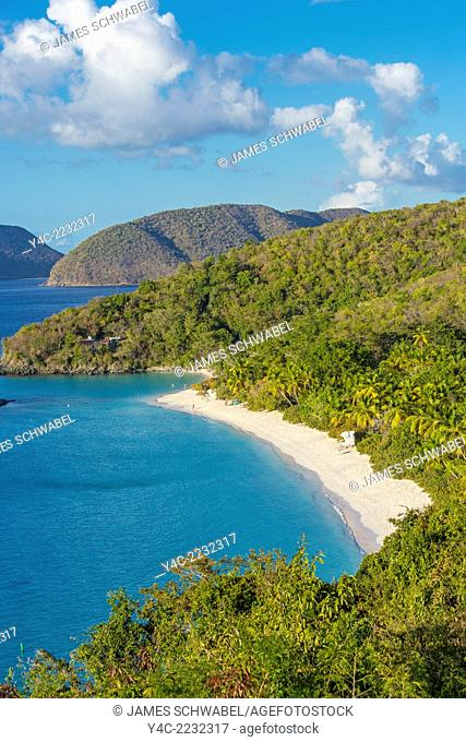 Trunk Bay and Beach on the Caribbean Island of St John in the US Virgin Islands