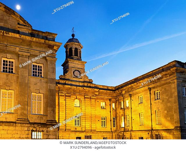 The Castle Museum Floodlit at Dusk City of York Yorkshire England