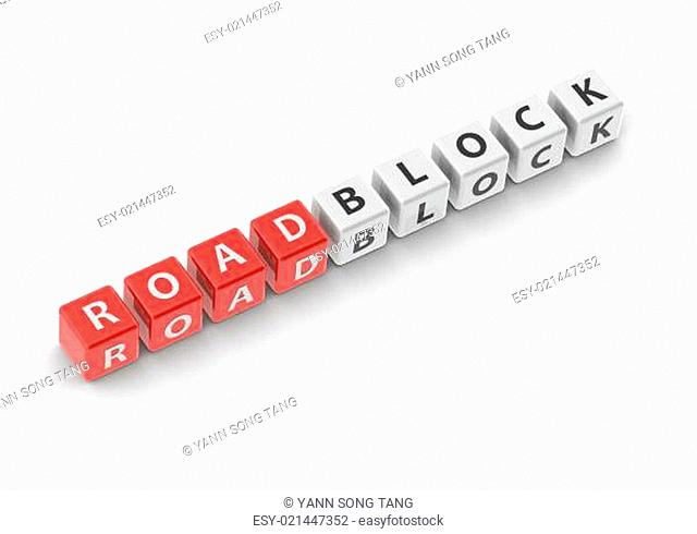 Roadblock image with hi-res rendered artwork that could be used for any graphic design