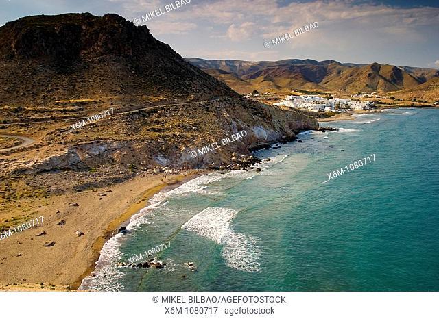 Las Negras village  Cabo de Gata Natural Park, Almeria, Andalusia, Spain, Europe