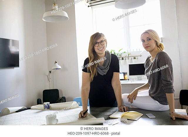 Portrait of confident businesswomen in office