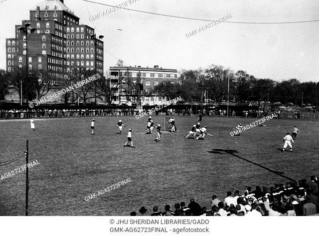 Lacrosse game at Johns Hopkins University, 1940