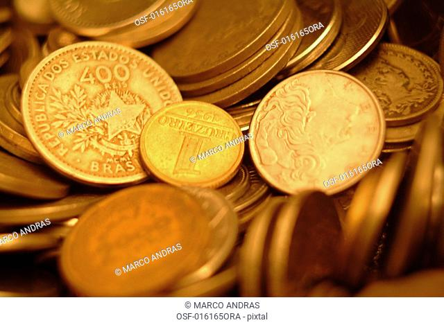 some coins in different values