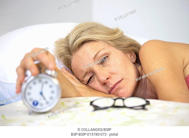 Woman with a sleeping disorder