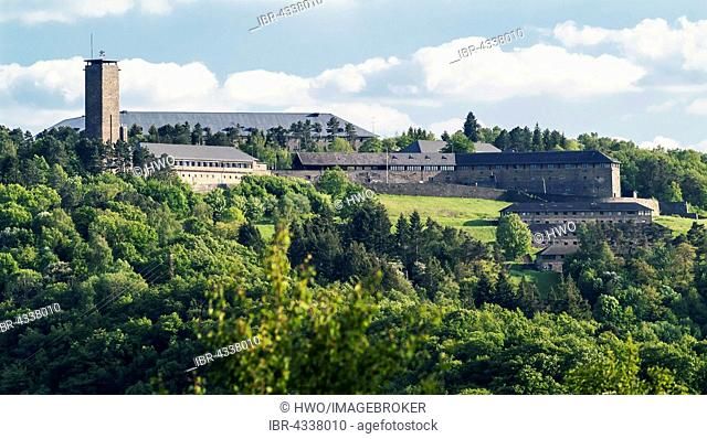 Building complex of Ordensburg Vogelsang, educational centre of the NSDAP from 1936-1939, now Forum Vogelsang, Eifel, North Rhine-Westphalia, Germany