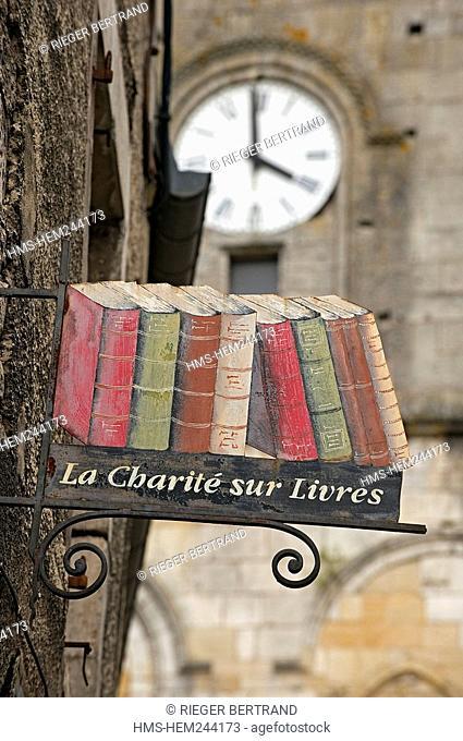 France, Nievre, La Charite sur Loire, city of books