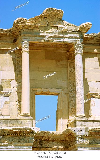 Columns Celsus Library - Ancient Ephsus Turkey