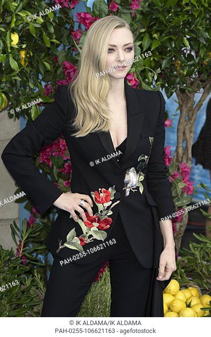 Amanda Seyfried attends Mamma Mia! Here We Go Again - World Premiere. London, UK. 16/07/2018 | usage worldwide