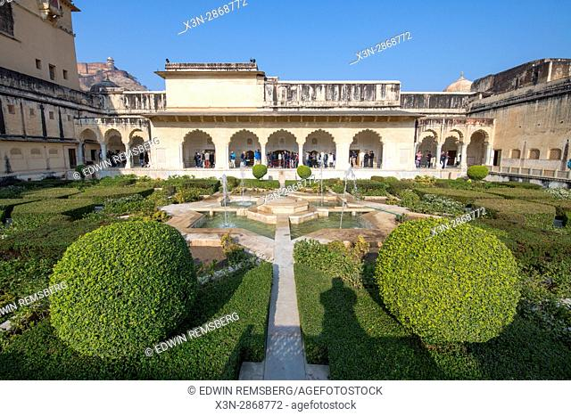 Jaipur, India - Garden at Amber Fort in India