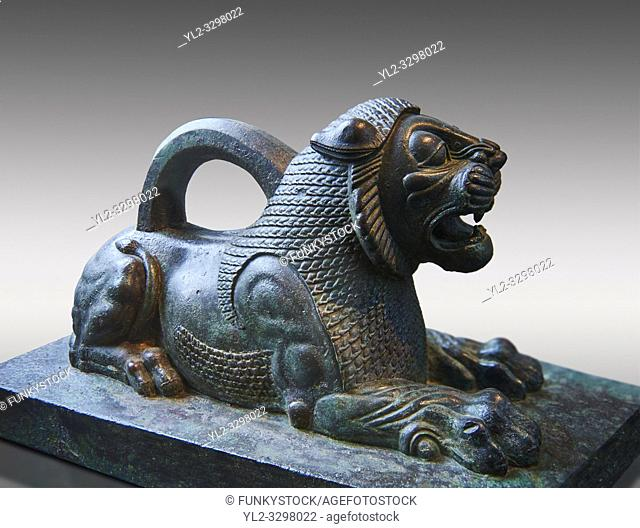 Bronze statuette of a Lion from the First Persian or Achaemenid Empire 6th to 5th cent. BC excavated from the Acropolis Susa, present day Iran