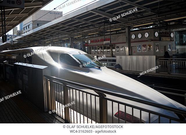 26. 12. 2017, Nagoya, Japan, Asia - A Shinkansen Bullet Train at Nagoya's Central station