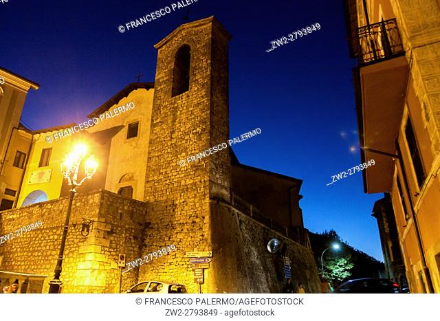 Twilight in a little medieval town. Guarcino, Lazio. Italy