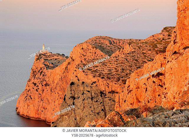 Formentor Lighthouse, Mallorca, Balearic Islands, Mediterranean Sea, Spain