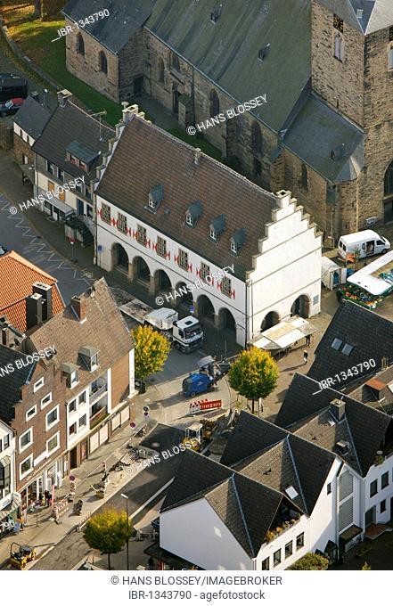 Aerial shot, Schwerte museum, Schwerte, Ruhr district, North Rhine-Westphalia, Germany, Europe