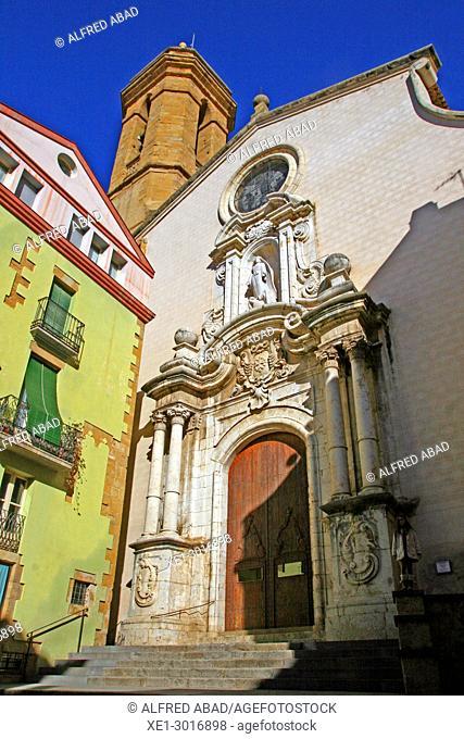 Church of Santa Maria, La Bisbal de l'Emporda, Girona, Catalonia, Spain