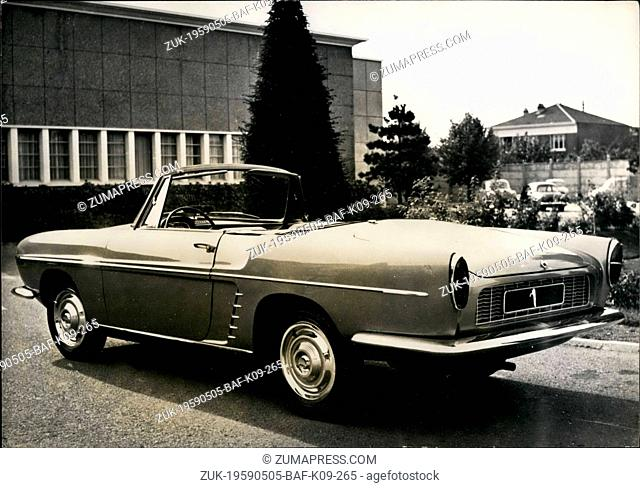 May 05, 1959 - A New Renault Car : The Dauphine-Floride: A New Touring Car Will Be Manufactured From Now By The French Car Manufacture Renault