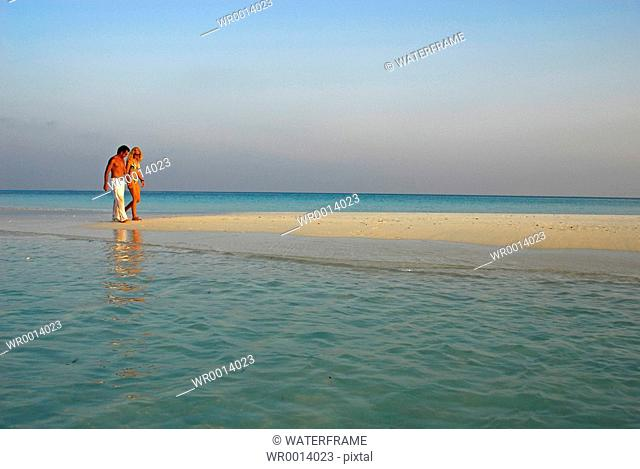 Couple at Beach, Indian Ocean, Maldives