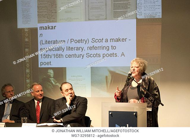 UK SCOTLAND Edinburgh -- 19 Jan 2011 -- Liz Lochhead - the new Makar (National Poet) pictured at a press conference to announce her appointment attended by...