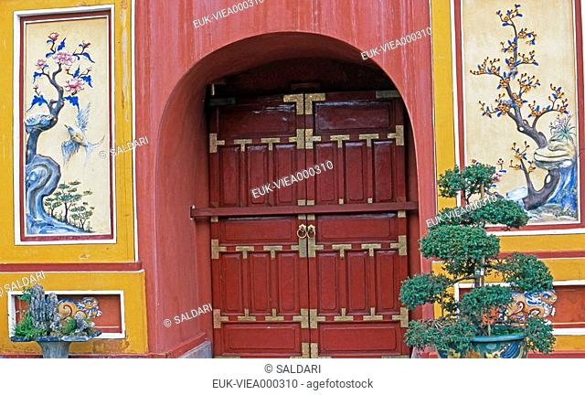 Decorated door,Vietnam