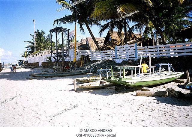 pernambuco recife anchored boats on porto de galinhas beach