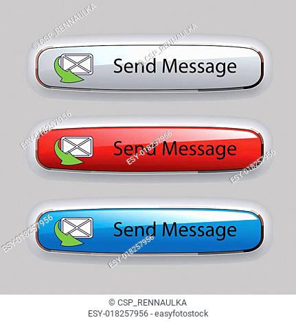 Vector buttons of send message