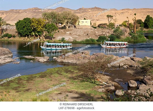 Nile River Cataract, Aswan, Egypt