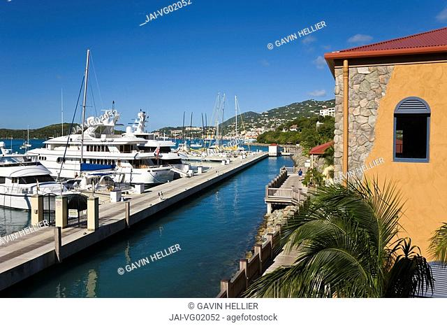 Caribbean, US Virgin Islands, St. Thomas, Yacht Haven Grande, the new Yacht Harbour