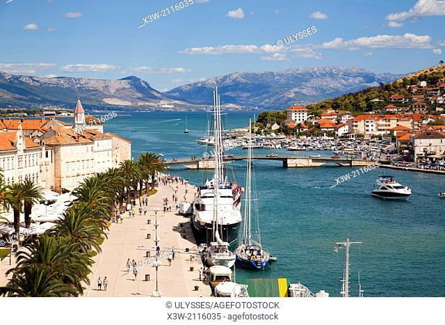 panorama from camerlengo fortress, trogir, dalmatia, croatia, europe