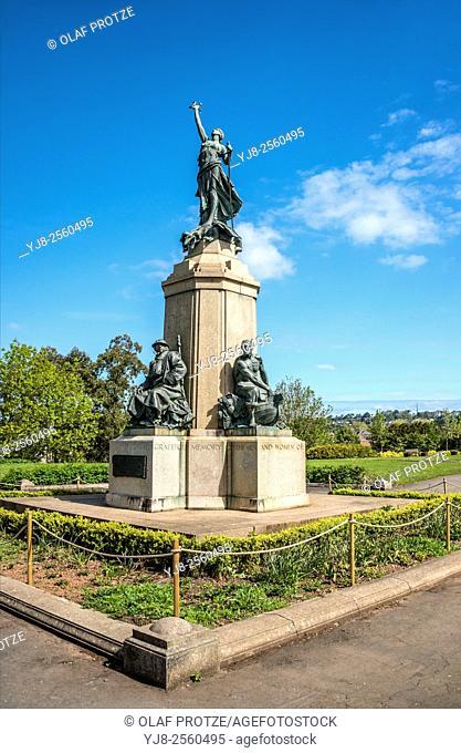 War Memorial at Northernhay Gardens, Exeter, Devon, United Kingdom UK