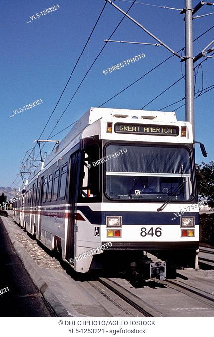 SAN JOSE - CA - USA, Light Rail Transit, Tramway, in Silicon Valley
