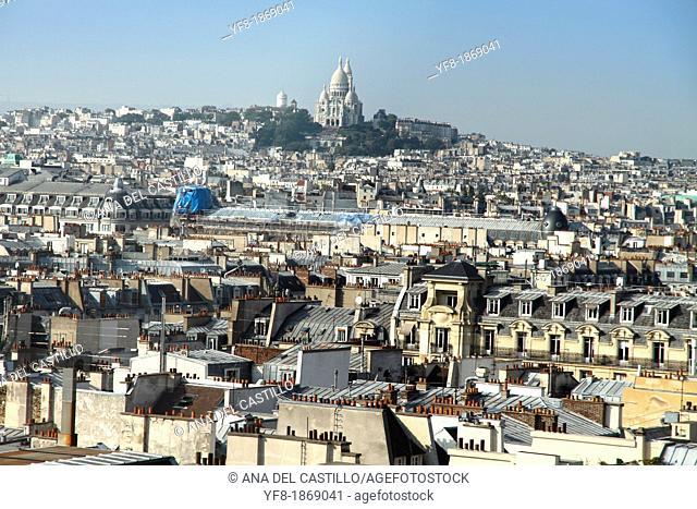 Paris from Pompidou museum France