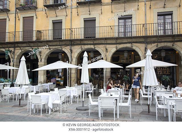 Restaurant at Plaza Mayor Square, Leon; Spain