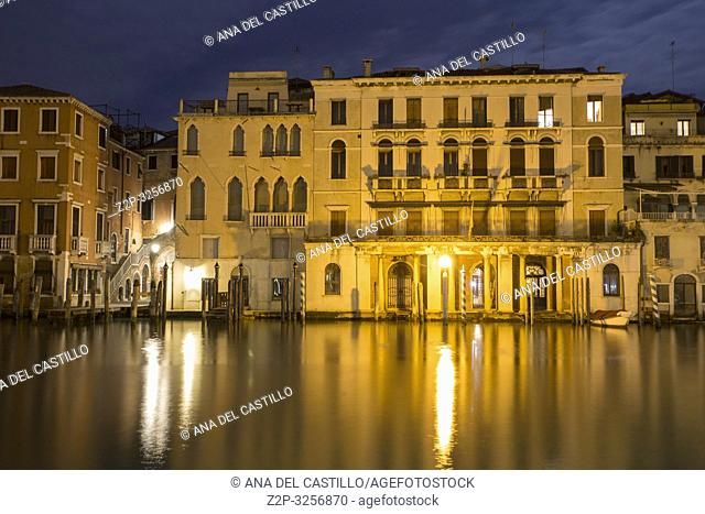 Venice, Veneto, Italy : Twilight in Grand Canal