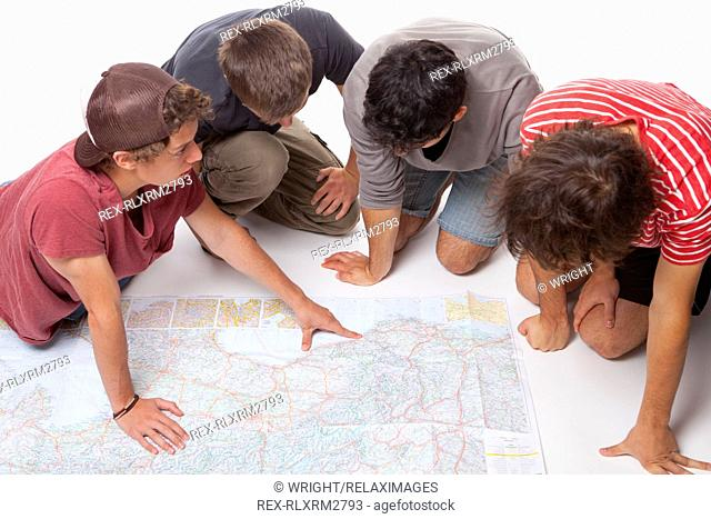 Map teenagers boys trip holiday vacation reading 4
