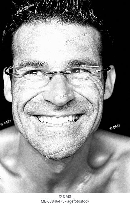 Climbers, Miguel Riera, portrait, s/w, broached, personality-rights, series, heed people, men's-portrait man young, smiles, cheerfully, gaze at the side