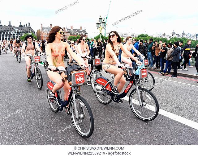 2015 World Naked Bike Ride Day London Featuring: Atmosphere Where: London, United Kingdom When: 13 Jun 2015 Credit: Chris Saxon/WENN.com