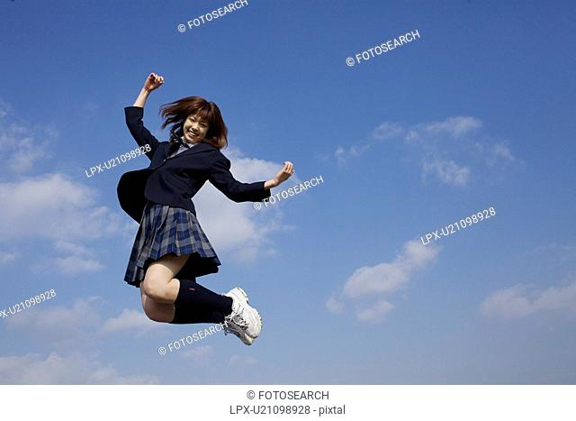 High School Student Jumping